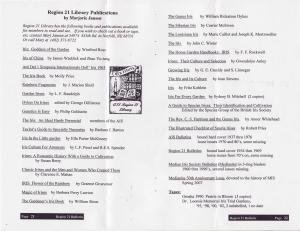 Region 21 Library Holdings